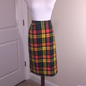 Liz Claiborne Plaid Skirt